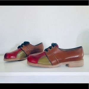 60s Colorblock Mary Janes Shoes 9.5 UNUSED